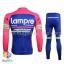 ชุดจักรยานแขนยาวทีม Lampre 16 (01) สีชมพูน้ำเงิน thumbnail 2