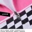 ชุดจักรยานผู้หญิงแขนสั้นขาสั้น CheJi 15 (02) สีขาวลายดำชมพู สั่งจอง (Pre-order) thumbnail 12