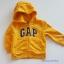 Gap : แจ็คเก็ท กันหนาวมีฮูด ซิปหน้า สีเหลือง Size : 18-24m thumbnail 1