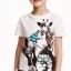 H&M : เสื้อยืด ลาย animal สีขาว size : 4-6y / 12-14y thumbnail 1