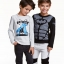 H&M : เสื้อแขนยาว สกรีนลาย แบทแมน สีเทา size : 6-8y thumbnail 2