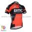 เสื้อจักรยานแขนสั้นทีม BMC 2016 สีดำแดง