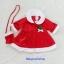 ชุดแซนตี้ สีแดง มาพร้อมกระเป๋าสะพายข้าง น่ารักๆ size S ( 1y ) thumbnail 2