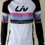 ชุดจักรยานแขนยาวขายาว Liv (01) สีขาวดำลายชมพูฟ้าดำ thumbnail 6