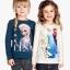 H&M : เสื้อยืดแขนยาว ลาย Elsa (ชนช้อป) สีน้ำเงินเข้ม Size 10-12y thumbnail 2