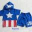 MARVEL : set เสื้อ + กางเกง กัปตันอเมริกา มีไฟ ตรงรูปดาว thumbnail 1