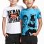 H&M : เสื้อยืดพิมพ์ลาย Batman&Superman สีฟ้า size : 1-2y thumbnail 2