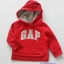 Gap : กันหนาว Gap แบบสวมมีฮูด สีแดง Size 12-18m thumbnail 1