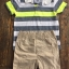 Carter's : ชุดเซ็ท เสื้อโปโล ลายขวางสีเทา เขียว พร้อม กางเกง ขาสั้น สีครีม size : 6m / 9m / 12m / 18m / 24m thumbnail 2