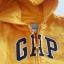 Gap : แจ็คเก็ท กันหนาวมีฮูด ซิปหน้า สีเหลือง Size : 18-24m thumbnail 2