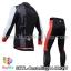ชุดจักรยานแขนยาวทีม Castelli 14 สีดำเทาขาว กางเกงแถบแดง thumbnail 2
