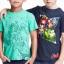 H&M : เสื้อยืด สกรีนลาย Avenger สีเขียว size : 1-2y thumbnail 1