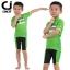 เสื้อจักรยานเด็กแขนสั้น CheJi สีเขียวลาย Monster thumbnail 15