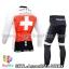 ชุดจักรยานแขนยาวทีม Assos 14 สีขาวแดง thumbnail 2