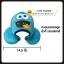หมอนรองคอ ตัวยู มีฮู๊ต คุกกี้มอนสเตอร์ สีฟ้า Sesame Street cookie monster