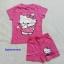 Hello Kitty : set เสื้อ+กางเกงขาสั้น สกรีนลาย Kitty สีชมพูเข้ม size 1-2y thumbnail 1
