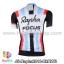 เสื้อจักรยานแขนสั้นทีม Rapha 13 (01) สีดำแดงขาวฟ้า สั่งจอง (Pre-order) thumbnail 2