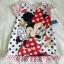 Disney : ชุดนอนลายมินนี่ สีขาว ผ้ามัน ลื่น size 12m thumbnail 1