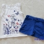 H&M : set เสื้อกล้ามสีขาว+กางเกงขาสั้นสีน้ำเงิน ลายผีเสื้อ (งานติดป้ายผิด) size : 8-10y / 10-12y thumbnail 1