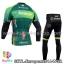 ชุดจักรยานแขนยาวทีม Europcar 14 สีเขียวดำ thumbnail 2
