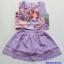 Set เสื้อ+กระโปรงกางเกง พิมพ์ลายเจ้าหญิงโซเฟีย สีม่วง size : 17 (7-8y) / 19 (8-9y) / 21 (9-10y) thumbnail 1
