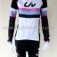 ชุดจักรยานแขนยาวขายาว Liv (01) สีขาวดำลายชมพูฟ้าดำ thumbnail 2