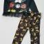 H&M : set เสื้อแขนยาว ชายเสื้อมีระบายสกรีนลาย มิกกี้ มินนี่ สีดำ มาพร้อมเลกกิ้ง เข้าชุดกัน size : 2-4y / 6-8y thumbnail 1