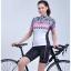 ชุดจักรยานผู้หญิงแขนสั้นขาสั้น CheJi 15 (02) สีขาวลายดำชมพู สั่งจอง (Pre-order) thumbnail 8