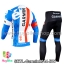 ชุดจักรยานแขนยาวทีม Garmin 14 สีน้ำเงินขาว thumbnail 2