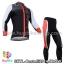 ชุดจักรยานแขนยาวทีม Castelli 14 สีดำเทาขาว กางเกงแถบแดง thumbnail 1