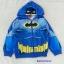 Batman : แจ็คเก็ทกันหนาว มีฮูด ลาย Batman สีน้ำเงิน เนื้อผ้าออกลื่นๆ Size : M (8-9y) thumbnail 1