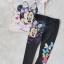 Set เสื้อ กางเกง minnie ชมพูอ่อน size : 2-4y / 8-10y / 10-12y thumbnail 1