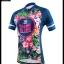 ชุดจักรยานผู้หญิงแขนสั้นขาสั้น CheJi 16 (01) สีน้าเงิน ลายดอกไม้ Recing is life สั่งจอง (Pre-order) thumbnail 14