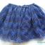 H&M : กระโปรงชีฟอง สีน้ำเงิน สลับดำซิกแซก thumbnail 1