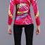 ชุดจักรยานผู้หญิงแขนยาวขายาว CheJi 15 (06) สีชมพูลายเหลือง สั่งจอง (Pre-order) thumbnail 2