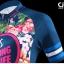 ชุดจักรยานผู้หญิงแขนสั้นขาสั้น CheJi 16 (01) สีน้าเงิน ลายดอกไม้ Recing is life สั่งจอง (Pre-order) thumbnail 4