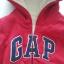 Gap : Jacket มีฮูด ซิปหน้า ด้านในบุขนหนานุ่ม สีแดงเข้ม size : 3T thumbnail 4
