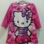 ** Hello Kitty ** : ชุดนอนผ้าสำลี สกรีนลาย Kitty สีชมพู size 12m thumbnail 1