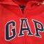 GAP : เสื้อกันหนาว ซิปหน้า ปักโลโก้ GAP สีแดง size : S (6-7y) thumbnail 2
