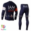 ชุดจักรยานแขนยาวทีม IAM 15 (01) สีน้ำเงินขาวแดง thumbnail 2