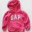 Gap : กันหนาว Gap แบบสวมมีฮูด สีชมพูเข้ม (girl) Size : 5y thumbnail 1