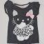 H&M : เสื้อยืด สีดำจุด ลายคิตตี้ (งานติดป้ายผิด) size : 1-2y thumbnail 1