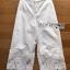 กางเกงผ้าคอตตอนสีขาวตกแต่งชายลูกไม้ thumbnail 5