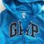 Gap : แจ็คเก็ท กันหนาวมีฮูด ซิปหน้า สีน้ำเงิน ด้านในบุผ้าสำลี Size : 12-18m / 18-24m thumbnail 2