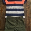 Carter's : ชุดเซ็ท เสื้อโปโล ลายขวางสีน้ำเงิน ส้ม พร้อม กางเกง ขาสั้น สีเขียวขี้ม้า size : 6m / 9m / 12m / 18m / 24m thumbnail 2