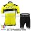 ชุดจักรยานแขนสั้นทีม Fox 15 (06) สีเหลืองดำ