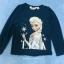H&M : เสื้อยืดแขนยาว ลาย Elsa (ชนช้อป) สีน้ำเงินเข้ม Size 10-12y thumbnail 1
