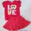 H&M : Set เสื้อ+กระโปรง มินนี่ สีชมพูแดง (กระโปรงมีกางเกงข้างใน) size 1-2y / 2-3y / 6-7y thumbnail 1