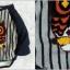 เสื้อลายขวาง ปักลายนกฮูกตัวโต สีกรม thumbnail 1