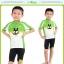 ชุดจักรยานเด็กแขนสั้นขาสั้น CheJi สีเขียวขาวลายกระต่าย thumbnail 5